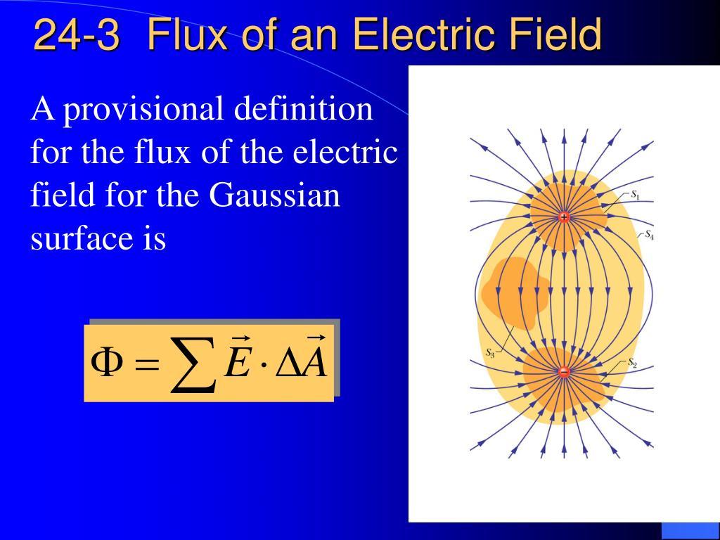 24-3  Flux of an Electric Field