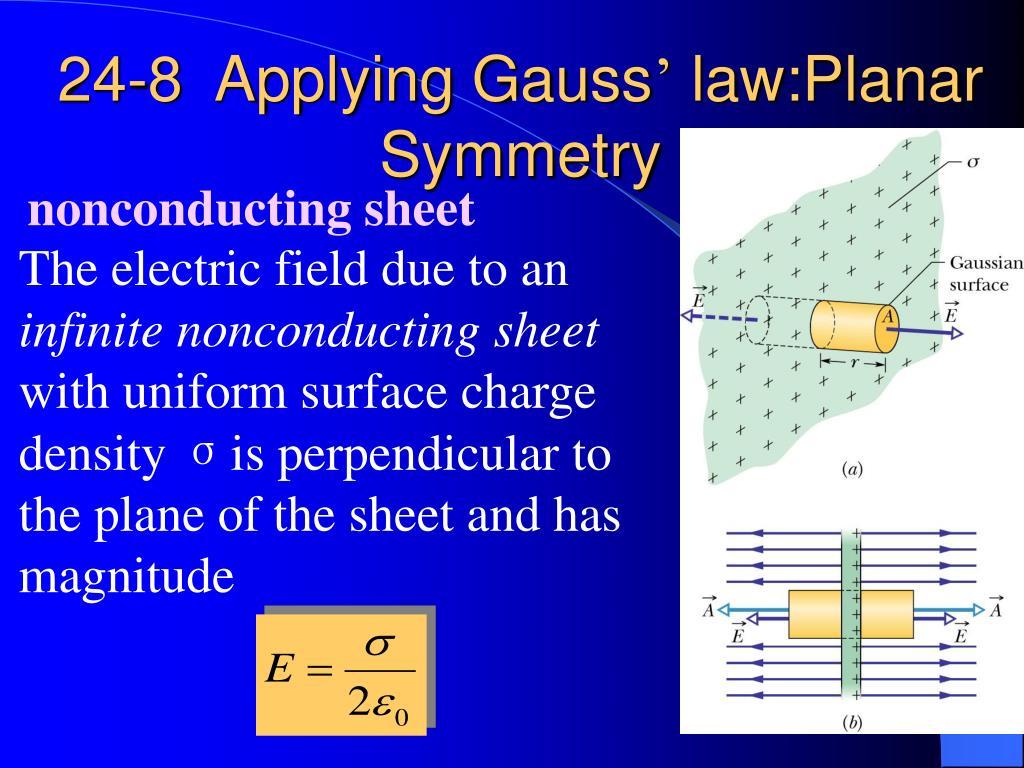 24-8  Applying Gauss