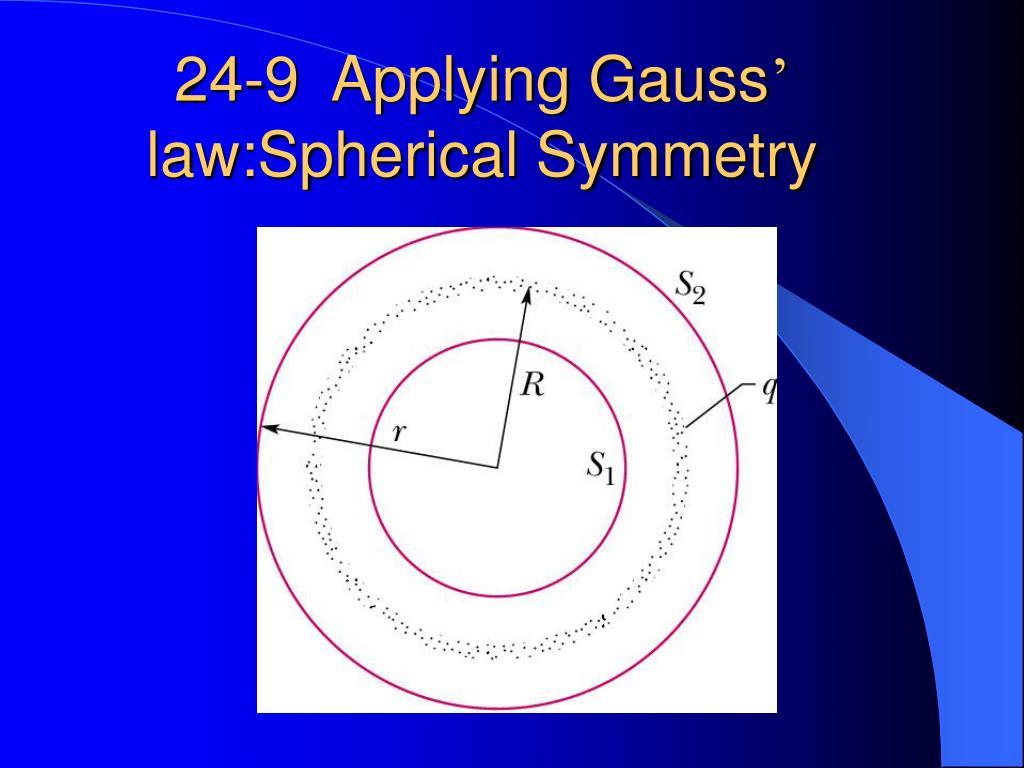 24-9  Applying Gauss