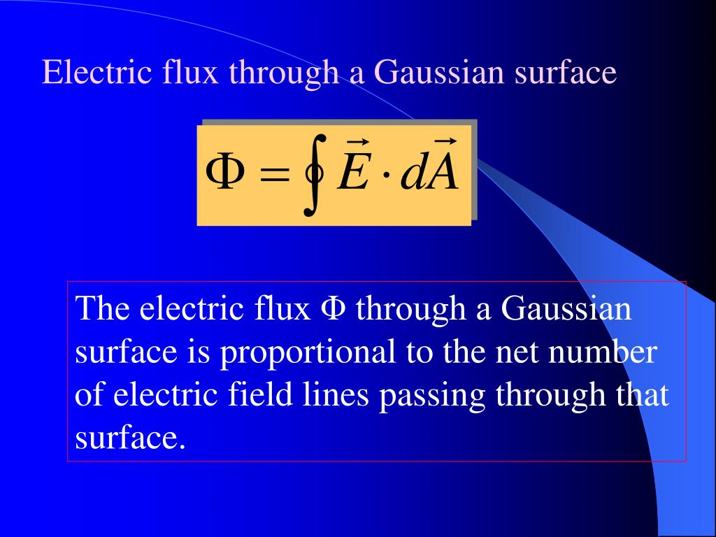 Electric flux through a Gaussian surface