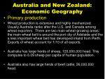 australia and new zealand economic geography