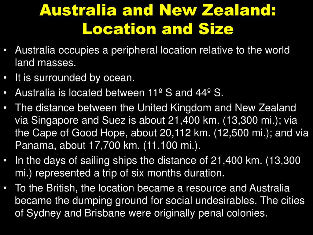 Australia and New Zealand: Location and Size