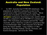 australia and new zealand population