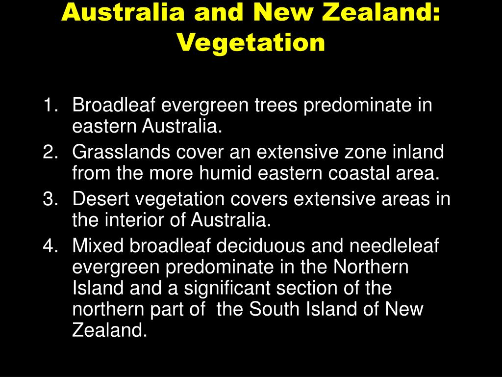 Australia and New Zealand: Vegetation