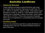 australia landforms