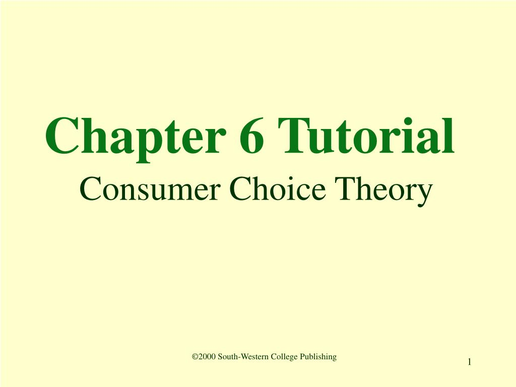 Chapter 6 Tutorial