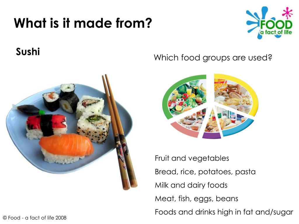 Which food groups are used?