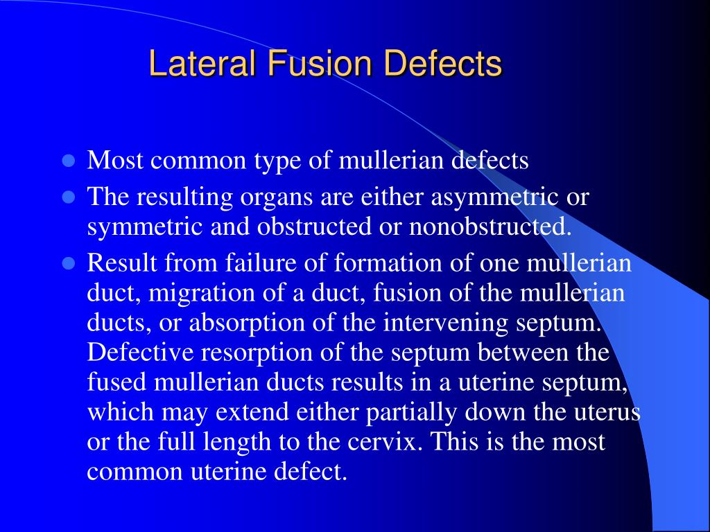 Lateral Fusion Defects