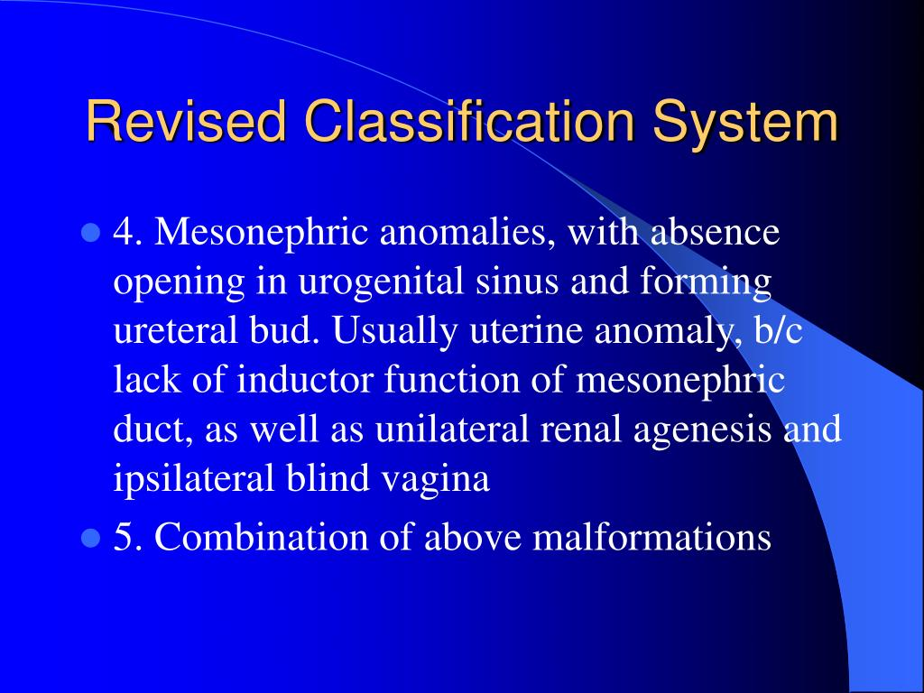 Revised Classification System