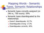 mapping words semantic types semantic relationships