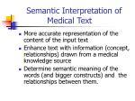 semantic interpretation of medical text2