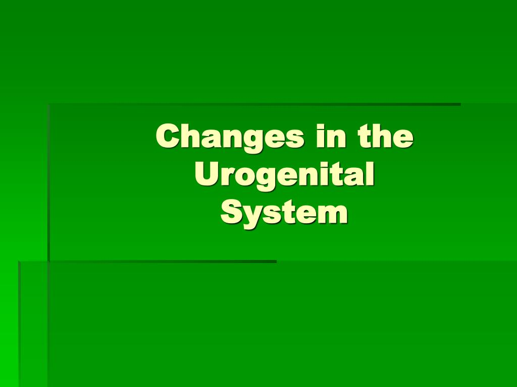 Changes in the Urogenital