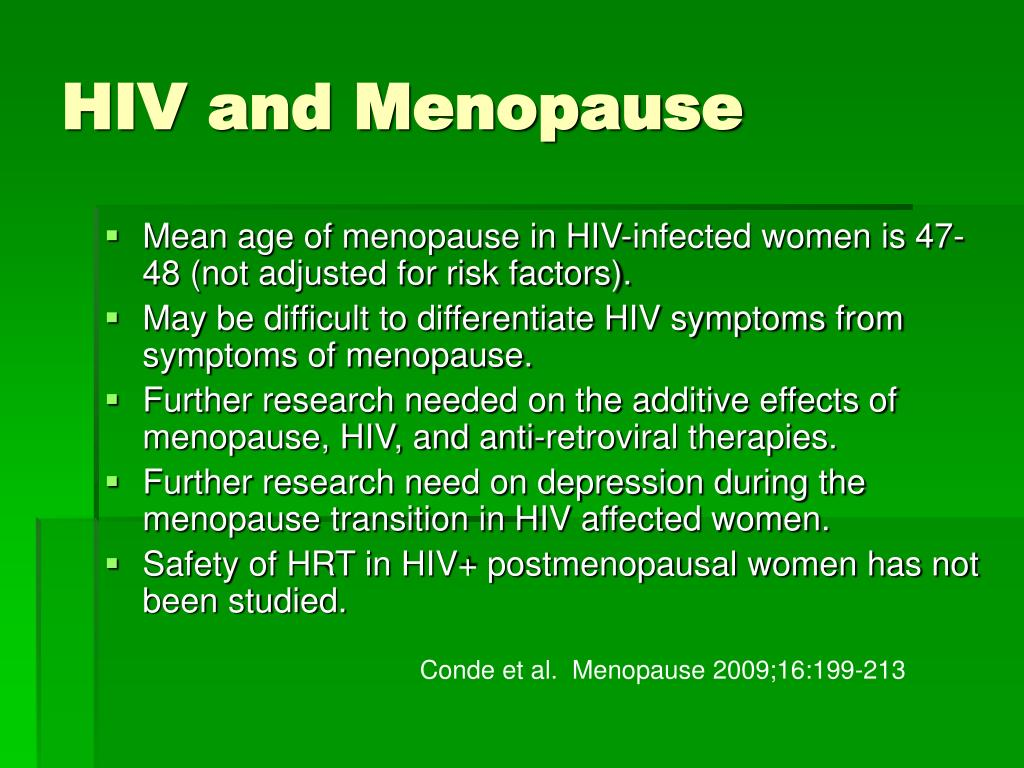 HIV and Menopause