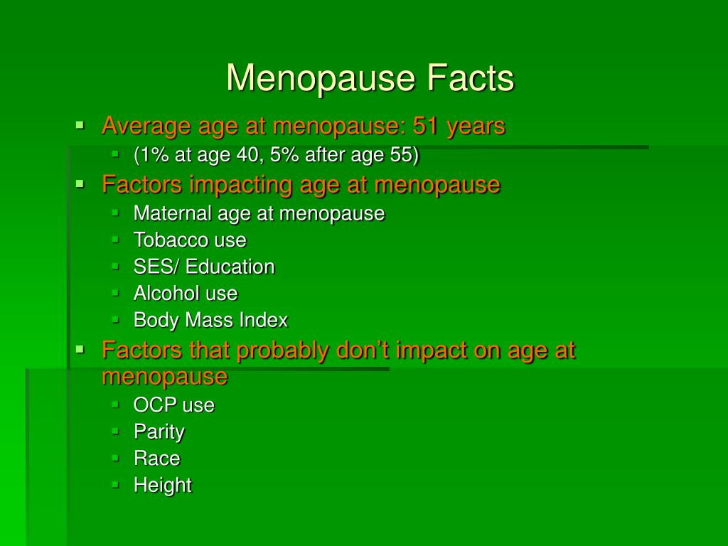 Menopause Facts