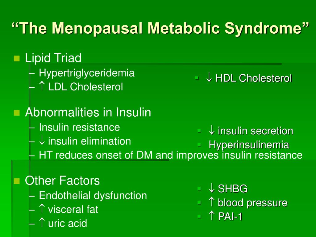 """The Menopausal Metabolic Syndrome"""