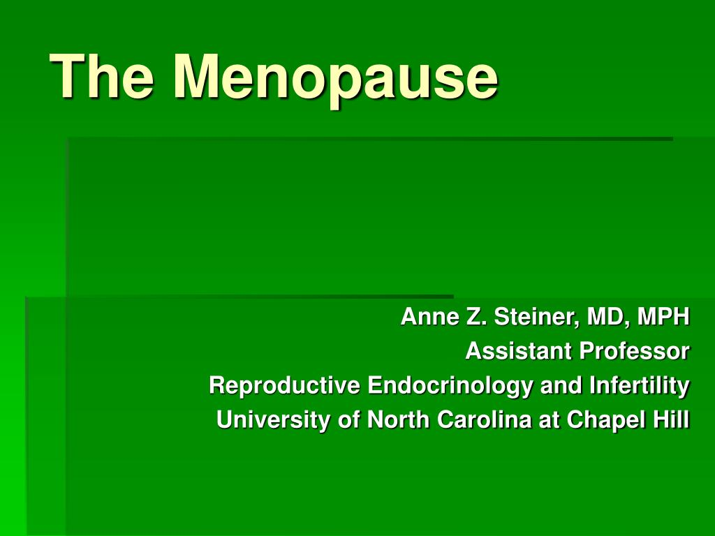 the menopause l.