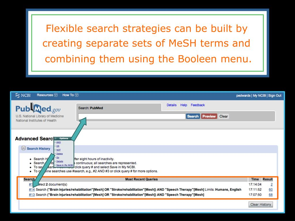 Flexible search strategies can be built by