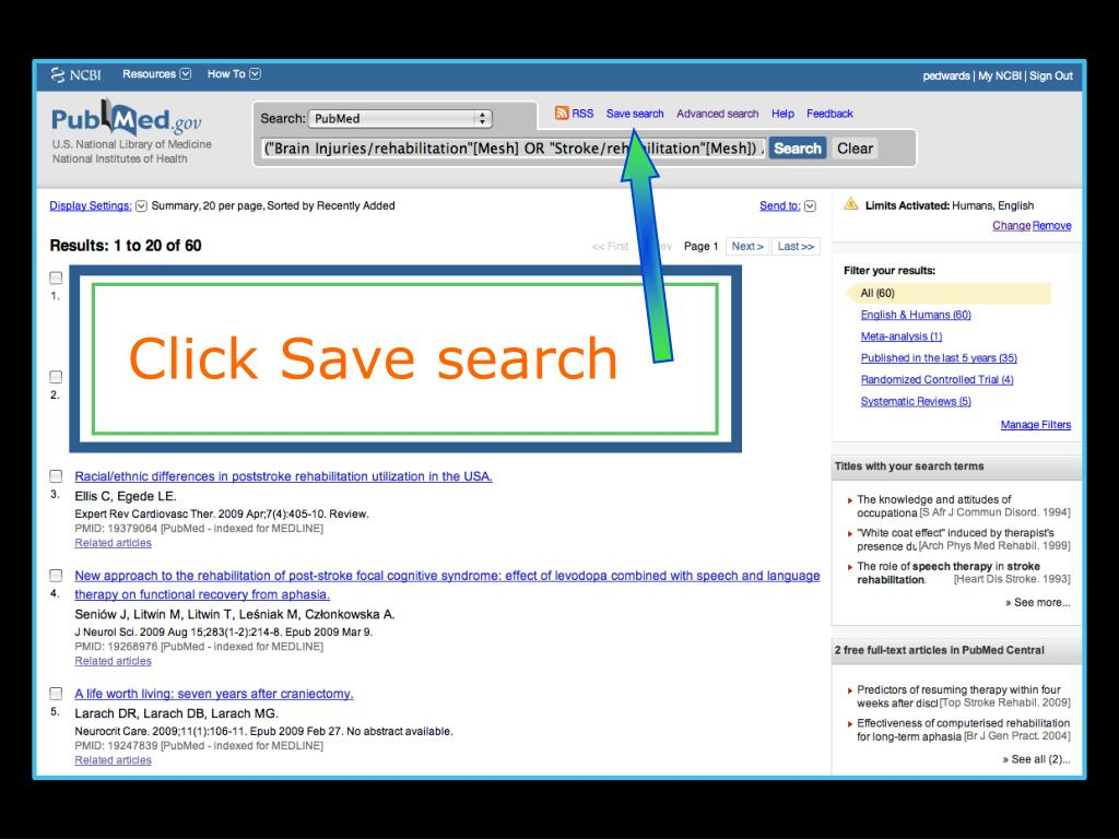 Click Save search