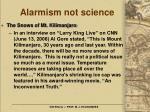 alarmism not science18