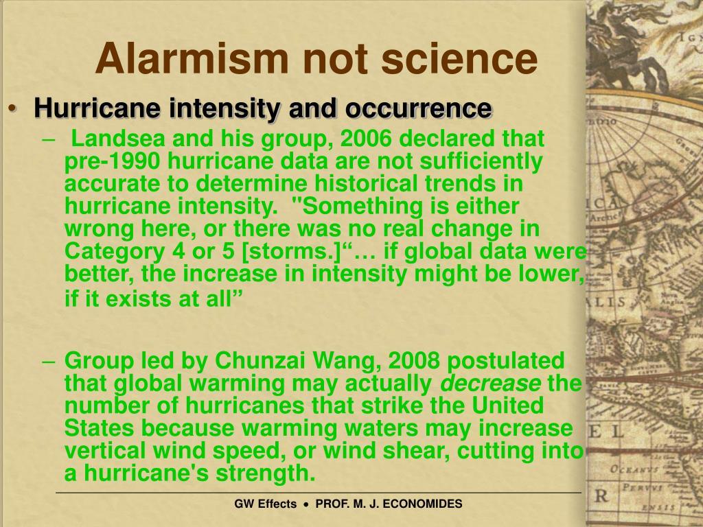 Alarmism not science