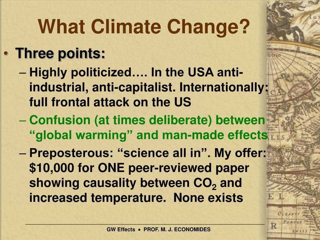 What Climate Change?