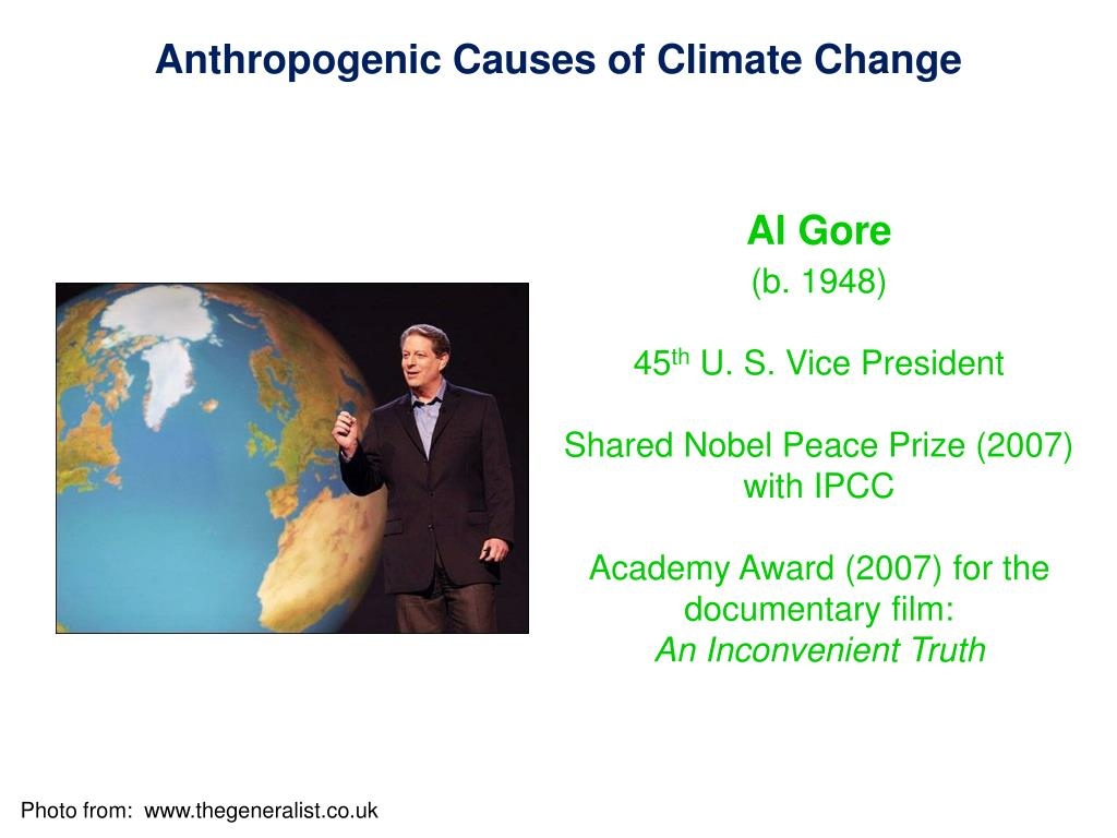 Anthropogenic Causes of Climate Change