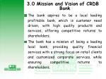 3 0 mission and vision of crdb bank