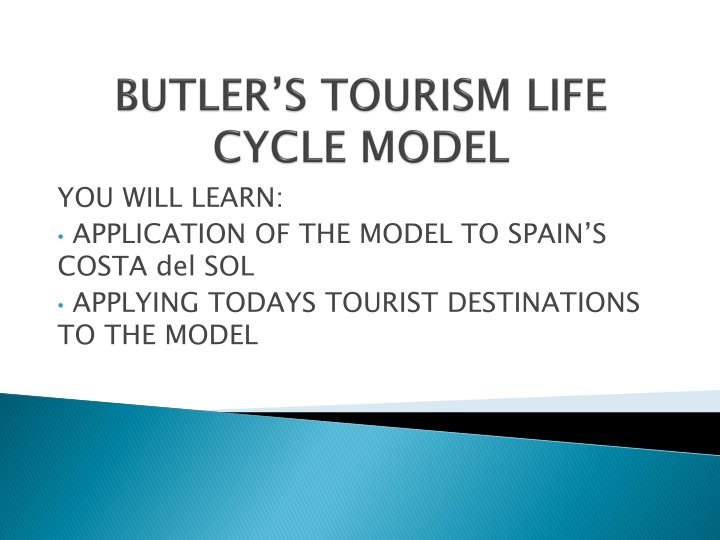 Butler s tourism life cycle model