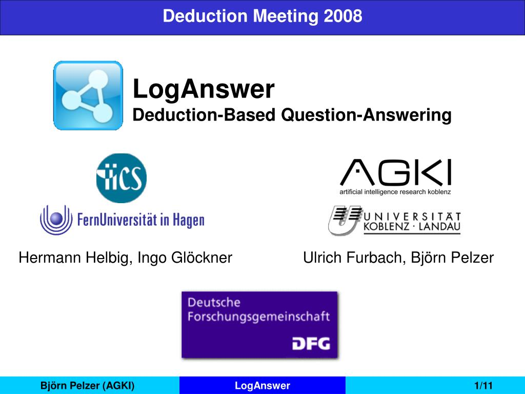 loganswer deduction based question answering l.