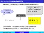 specifically deduction based qa4