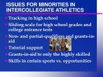 issues for minorities in intercollegiate athletics