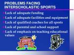 problems facing interscholastic sports