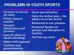 problems in youth sports