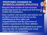 proposed changes in intercollegiate athletics1