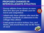 proposed changes in intercollegiate athletics2