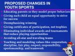 proposed changes in youth sports1