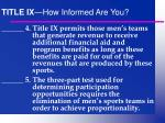 title ix how informed are you1