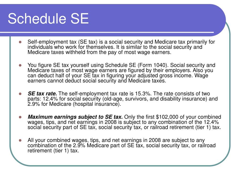 Schedule SE
