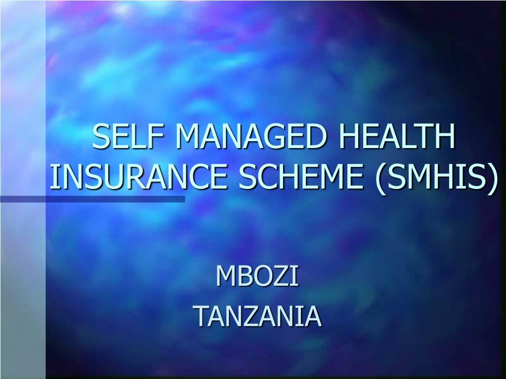 self managed health insurance scheme smhis l.