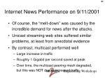 internet news performance on 9 11 2001