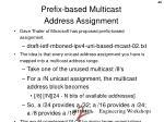 prefix based multicast address assignment