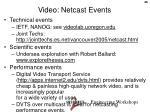video netcast events
