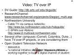 video tv over ip