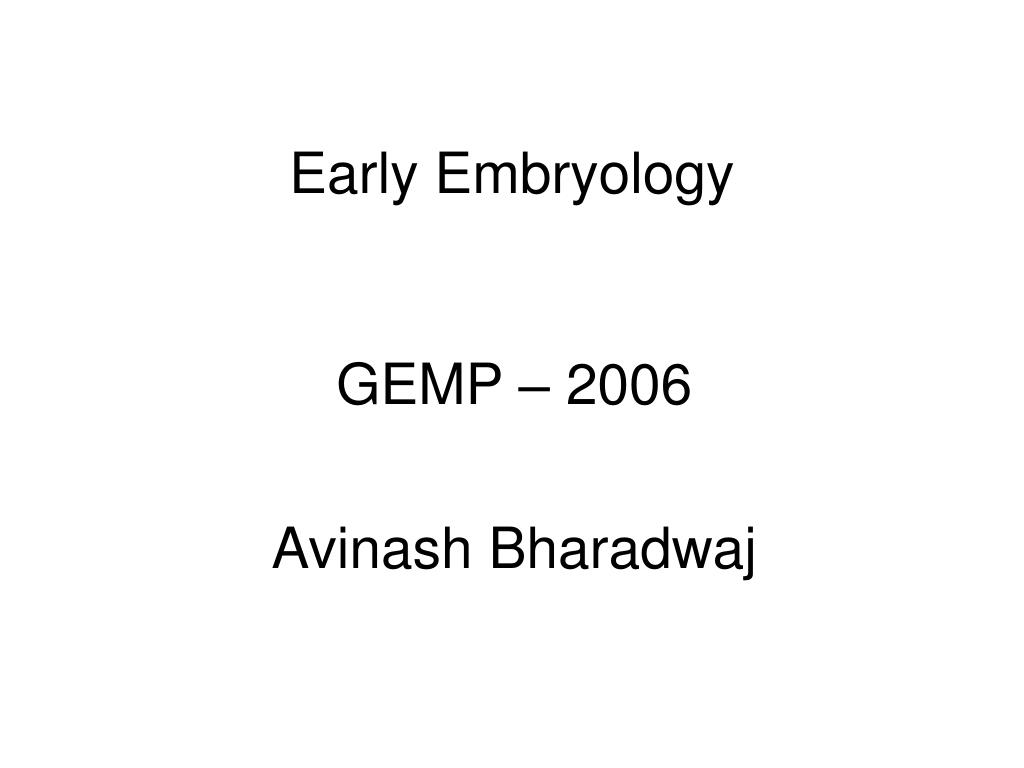 early embryology l.
