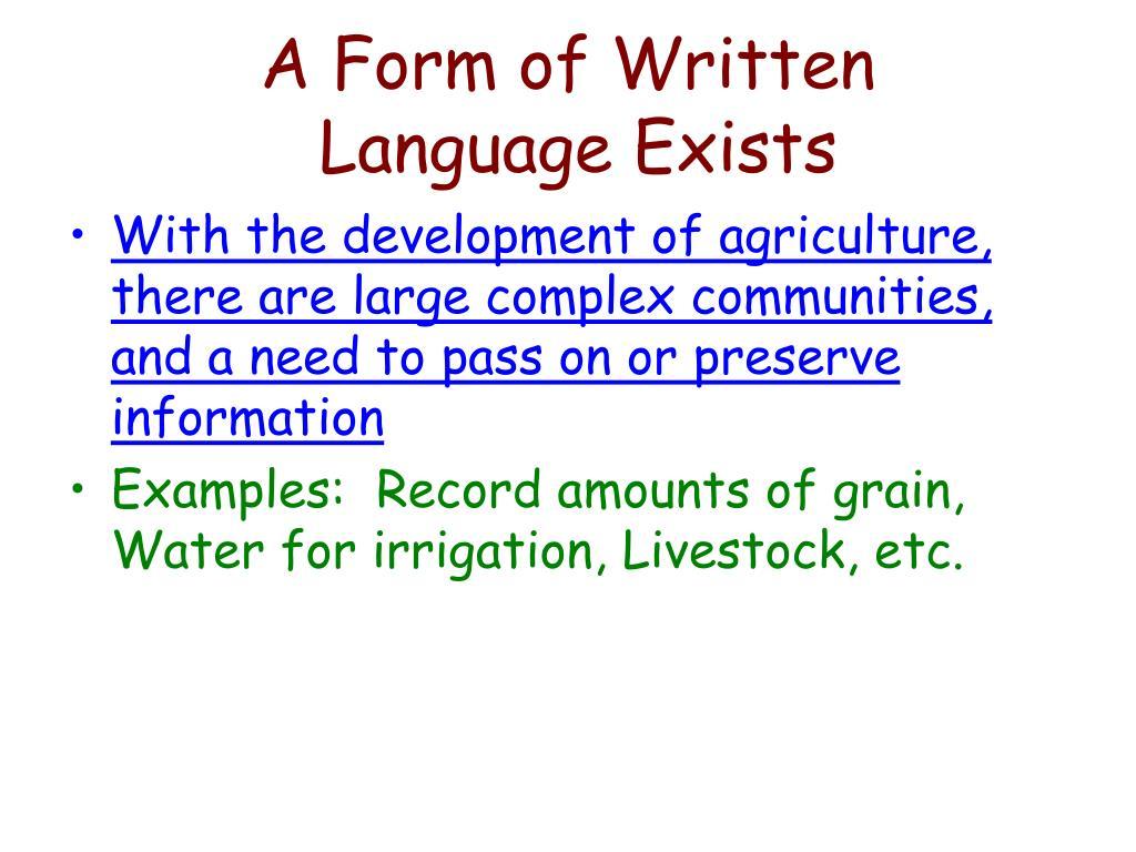 A Form of Written