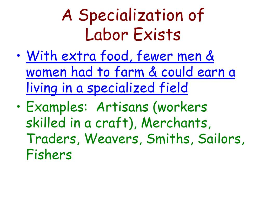 A Specialization of