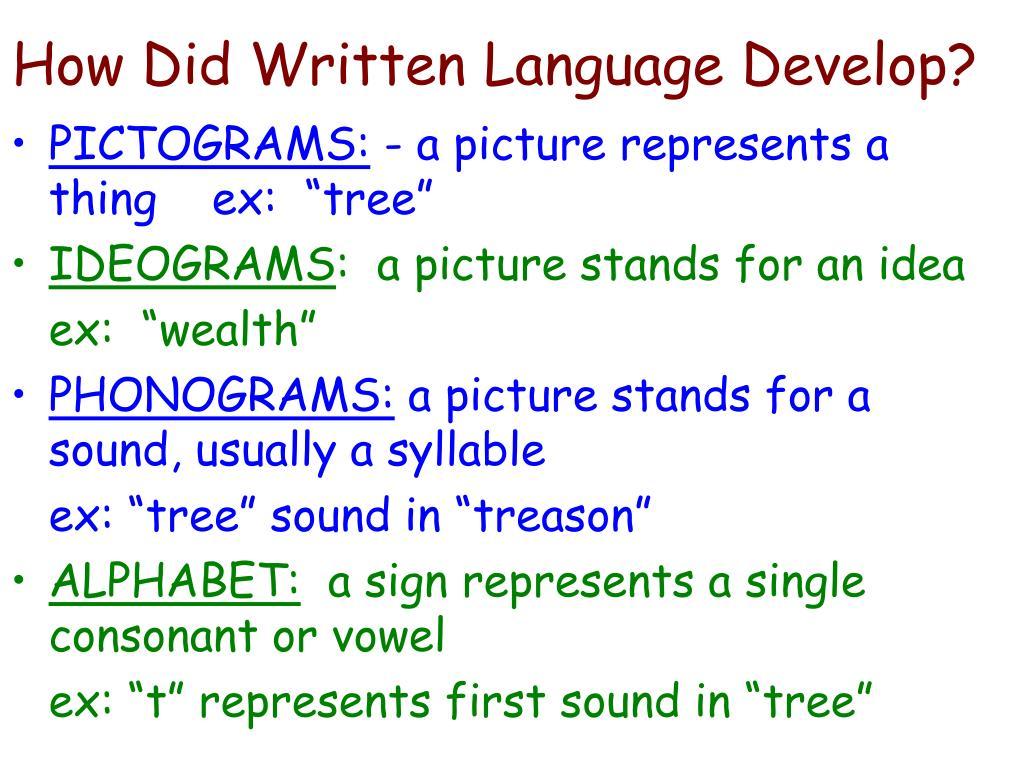 How Did Written Language Develop?