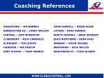 coaching references