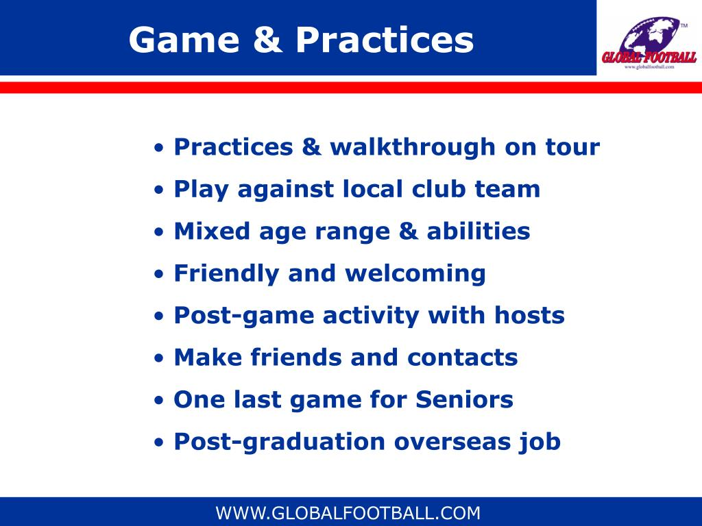 Game & Practices