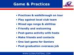 game practices